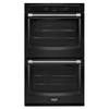 Maytag Self-Cleaning Double Electric Wall Oven (Black) (Common: 27-in; Actual: 27-in)