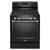 Maytag Freestanding 5.8-cu Self-Cleaning Gas Range (Black) (Common: 30-in; Actual: 29.87-in)