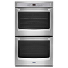 Maytag Self-Cleaning Convection Double Electric Wall Oven (Stainless Steel) (Common: 30-in; Actual: 30-in)