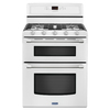 Maytag Gemini 30-in 5-Burner 3.9-cu ft/2.1-cu ft Self-Cleaning Double Oven Gas Range (White)