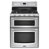 Maytag Gemini 30-in 5-Burner 3.9-cu ft/2.1-cu ft Self-Cleaning Double Oven Gas Range (Stainless Steel)