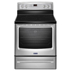 Maytag Smooth Surface Freestanding 5-Element 6.2-cu ft Self-Cleaning Convection Electric Range (Stainless Steel) (Common: 30-in; Actual: 29.87-in)