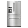 Maytag 26.2-cu ft French Door Refrigerator with Single Ice Maker (Stainless Steel)
