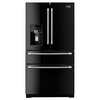 Maytag 26.2-cu ft French Door Refrigerator with Single Ice Maker (Black)