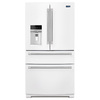 Maytag 26.2-cu ft French Door Refrigerator with Single Ice Maker (White)