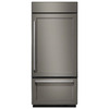 KitchenAid 20.9-cu ft Built-in Bottom-Freezer Refrigerator with Single Ice Maker (Panel Ready) ENERGY STAR