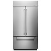 KitchenAid 24.2-cu ft Counter-Depth French Door Refrigerator with Single Ice Maker (Stainless Steel) ENERGY STAR