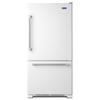 Maytag 18.7-cu ft Bottom-Freezer Refrigerator with Single Ice Maker (White) ENERGY STAR