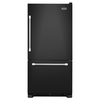 Maytag 22.1-cu ft Bottom-Freezer Refrigerator with Single Ice Maker (Black) ENERGY STAR