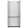 Maytag 22.1-cu ft Bottom-Freezer Refrigerator with Single Ice Maker (Stainless Steel) ENERGY STAR