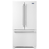 Maytag 22.1-cu ft French Door Refrigerator with Single Ice Maker (White) ENERGY STAR