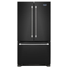 Maytag 22.1-cu ft French Door Refrigerator with Single Ice Maker (Black) ENERGY STAR