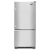 Maytag 18.7-cu ft Bottom-Freezer Refrigerator with Single Ice Maker (Stainless Steel) ENERGY STAR