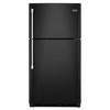 Maytag 21.2-cu ft Top-Freezer Refrigerator (Black)