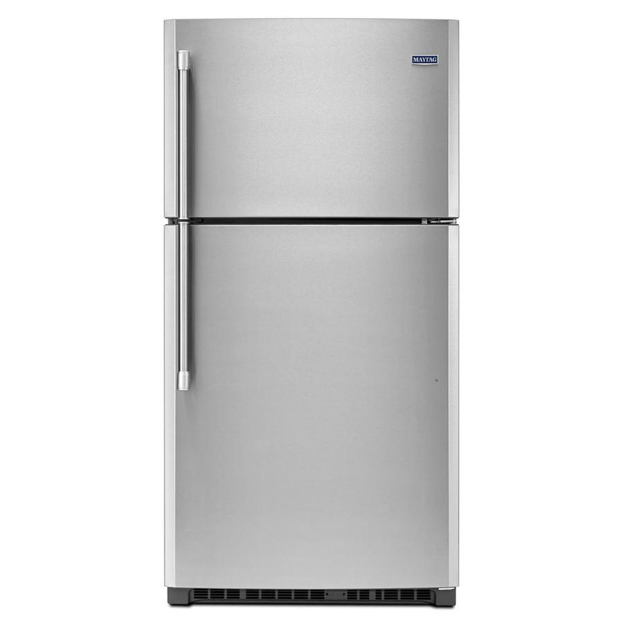 Kitchen Appliances At Lowes: Shop Maytag 21.2-cu Ft Top-Freezer Refrigerator