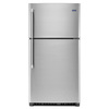 Maytag 21.2-cu ft Top-Freezer Refrigerator (Monochromatic Stainless Steel)