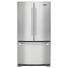 Maytag 20-cu ft Counter-Depth French Door Refrigerator with Single Ice Maker (Stainless Steel) ENERGY STAR