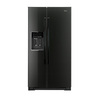 Whirlpool 25.6-cu ft Side-by-Side Refrigerator with Single Ice Maker (Black) ENERGY STAR