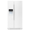 Whirlpool 25.6-cu ft Side-by-Side Refrigerator with Single Ice Maker (White)