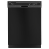 Whirlpool 55-Decibel Built-in Dishwasher (Black) (Common: 24-in; Actual: 23.875-in) ENERGY STAR