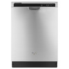 Whirlpool 53-Decibel Built-in Dishwasher (Monochromatic Stainless Steel) (Common: 24-in; Actual: 23.875-in) ENERGY STAR