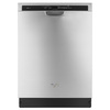 Whirlpool Gold Gold 49-Decibel Built-In Dishwasher (Monochromatic Stainless Steel) (Common: 24-in; Actual 23.875-in) ENERGY STAR