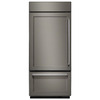 KitchenAid 20.86-cu ft Built-In Bottom-Freezer Refrigerator with Single Ice Maker (Panel Ready) ENERGY STAR