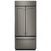 KitchenAid 20.8-cu ft Counter-Depth French Door Refrigerator with Single Ice Maker (Panel Ready)