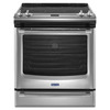 Maytag Smooth Surface 5-Element Slide-In Convection Electric Range (Stainless Steel) (Common: 30-in; Actual 29.875-in)