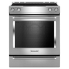 KitchenAid Smooth Surface 5-Element Slide-In Convection Electric Range (Stainless Steel) (Common: 30-in; Actual 29.875-in)