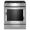 KitchenAid Self-Cleaning Convection Single Oven Dual Fuel Range with Downdraft Exhaust (Stainless Steel) (Common: 30-in; Actual 29.875-in)