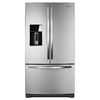 Whirlpool 26.8-cu ft French Door Refrigerator with Single Ice Maker (Monochromatic Stainless Steel)