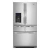 Whirlpool 25.8-cu ft French Door Refrigerator with Single Ice Maker (Monochromatic Stainless Steel)