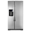 Whirlpool 24.8-cu ft Side-by-Side Refrigerator with Single Ice Maker (Monochromatic Stainless Steel) ENERGY STAR