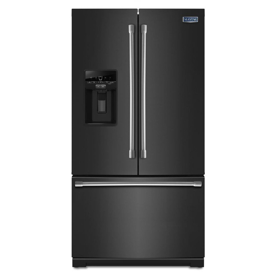 Shop Maytag 26 8 Cu Ft French Door Refrigerator With