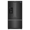 Maytag 26.8-cu ft French Door Refrigerator with Single Ice Maker (Black) ENERGY STAR