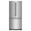 Maytag 19.7-cu ft French Door Refrigerator with Single Ice Maker (Stainless Steel)