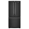 Maytag 19.7-cu ft French Door Refrigerator with Single Ice Maker (Black)
