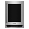 KitchenAid 5.1-cu ft Built-In Compact Refrigerator (Stainless Steel)