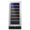 Whirlpool 34-Bottle Black-On-Stainless Wine Chiller