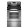 Whirlpool Smooth Surface Freestanding 4.8-cu ft Electric Range (Black-on-Stainless) (Common: 30-in; Actual: 29.875-in)