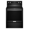 KitchenAid Smooth Surface Freestanding 5-Element 6.4-cu ft Self-Cleaning Convection Electric Range (Black) (Common: 30-in; Actual: 29.87-in)