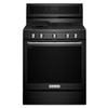 KitchenAid 5-Burner Freestanding 5.8-cu Self-Cleaning Convection Gas Range (Black) (Common: 30-in; Actual: 29.87-in)