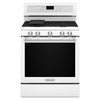 KitchenAid 5-Burner Freestanding 5.8-cu Self-Cleaning Convection Gas Range (White) (Common: 30-in; Actual: 29.87-in)