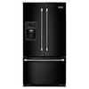 Maytag 21.7-cu ft French Door Refrigerator with Single Ice Maker (Black)