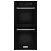 KitchenAid Self-Cleaning Convection Double Electric Wall Oven (Black) (Common: 24-in; Actual: 23.75-in)