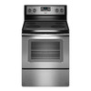 Whirlpool Smooth Surface Freestanding 4-Element 5.3-cu ft Self-Cleaning Electric Range (Black-on-Stainless) (Common: 30-in; Actual: 29.875-in)