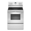 Whirlpool Smooth Surface Freestanding 4 5.3-cu ft Self-Cleaning Electric Range (White) (Common: 30-in; Actual: 29.875-in)