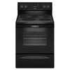 Whirlpool Smooth Surface Freestanding 5-Element 5.3-cu ft Self-Cleaning Convection Electric Range (Black) (Common: 30-in; Actual: 29.875-in)