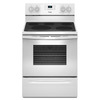 Whirlpool Smooth Surface Freestanding 5-Element 5.3-cu ft Self-Cleaning Convection Electric Range (White) (Common: 30-in; Actual: 29.875-in)